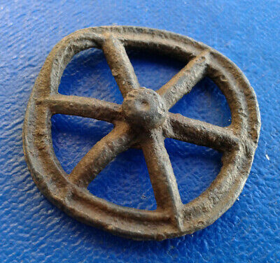Ancient Roman the Wheel Pendant Amulet 1st century BC - 1st AD Wheel of Fortune.