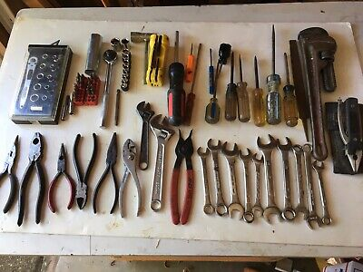 Large Lot Of Various Tools, Pliers, Screwdrivers, Wrenhes And More  T102