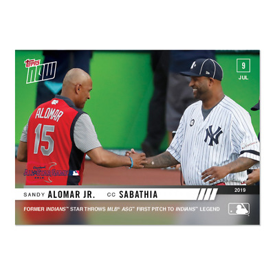 2019 Topps NOW 494 CC Sabathia Yankees Throws Out 1st Pitch At ASG