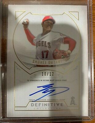 2019 Topps Definitive Collection Defining Moments Shohei Ohtani AUTO /12 ANGELS
