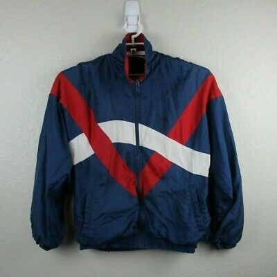 Todd1 Men's Size Medium Vintage Jacket Red White Blue Vintage Windbreaker