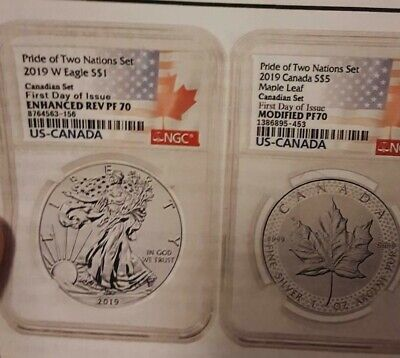 2019 Pride of Two Nations NGC PF 70 DCAM Canadian Mint Set FDOI