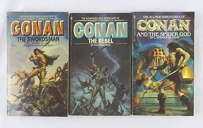 Conan The Barbarian Bantam Paperbacks lot of 3