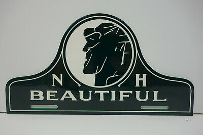 """LARGE N H BEAUTIFUL NEW HAMPSHIRE License Plate Topper 5 1/4"""" High by 10"""" Wide."""