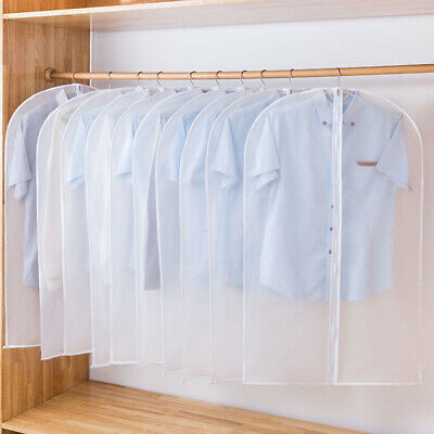 2/5Pack Reusable Suit Cover Clear Hanging Garment Storage Bags Clothes Protector