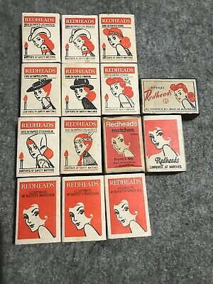 VINTAGE REDHEADS OLYMPICS MATCH BOX COLLECTION BRYMAY BRYANT and MAY