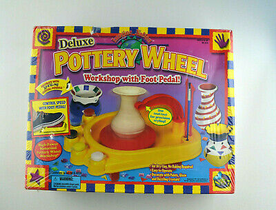 Deluxe Pottery Wheel Workshop With Foot Pedal! NSi (SEALED)