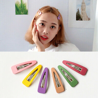 6cm Matte Triangle Resin BB Hair Clip Candy Color Hairpins Large Metal Barrettes
