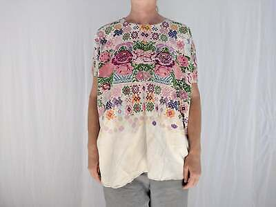 Vintage Tecpan Ceremonial Huipil. Guatemalan . Hand- Embroidered. All Cotton