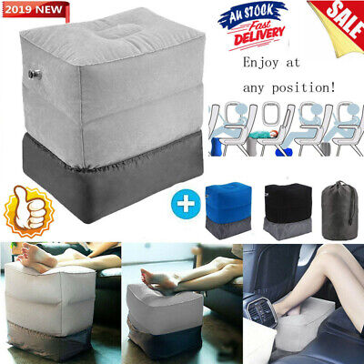 Plane Train Portable Travel Inflatable Foot Rest Pad Footrest Pillow Kid Bed Pad