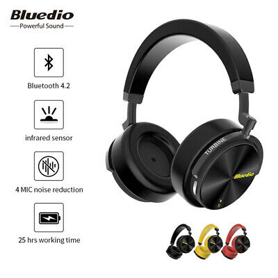 Bluedio T5S Bluetooth V4.2 Headphones Wireless Noise Cancelling Headsets Mic