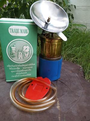 Rare Vintage Carbide Lamp Or Acetylene Gas  Brass With Original Packaging.