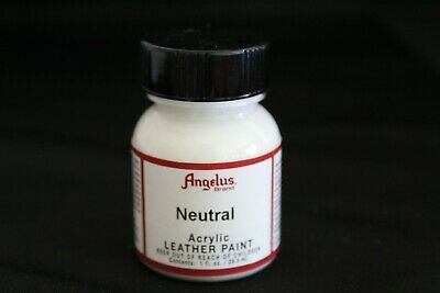 Angelus Acrylic Leather Paint Water Resistant Flexible in Neutral Color 1 Ounce