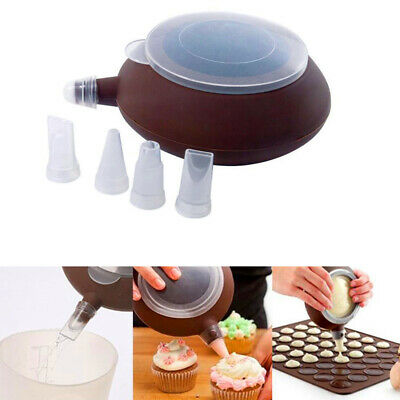 Bag Cake Tool Mould Silicone Icing Kit DIY Embossing Pastry Piping Macaron Pot