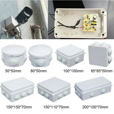 Outdoor ABS IP65 Waterproof Junction Box Enclosure Project Cable Case UK