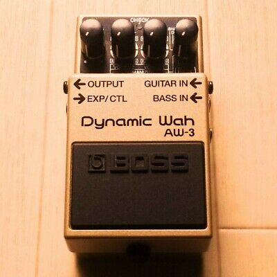 Used BOSS Dynamic Wah AW-3 guitar bass wah pedal F/S