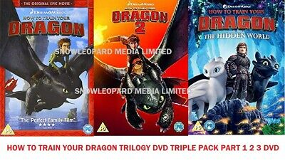 HOW TO TRAIN YOUR DRAGON TRILOGY DVD PART1 2 3 HIDDEN WORLD Movie Film NewUK R2