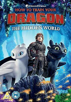 HOW TO TRAIN YOUR DRAGON THE HIDDEN WORLD DVD  Animation Movie Brand New UK  R2