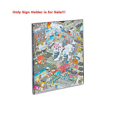 Acrylic Clear WallMount Sign Holder 7W x 11H Inches w/Magnetic Strip -Pack of 10