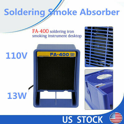 13W Durable Fume Smoke Absorber Air Filter Fan For Soldering Blue Remover