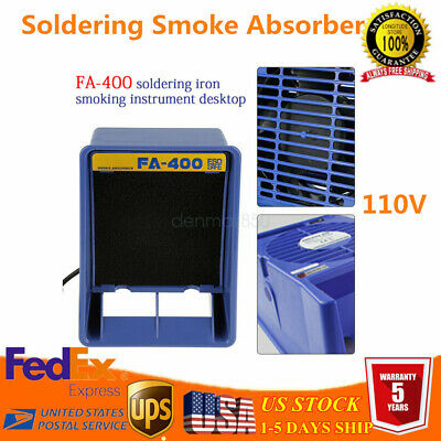110V Soldering Welding Exhaust Smoke Absorber Fume Extractor Fan Air Filter