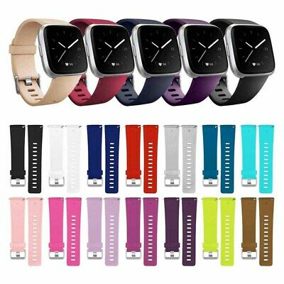 Replacement Silicone watch Band Sports Wrist Strap For Fitbit Versa/Versa Lite~