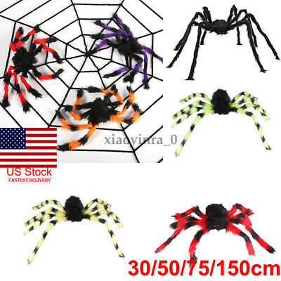 150cm 8Style Halloween Hanging Decoration Giant Realistic Hairy SPIDER Decor new
