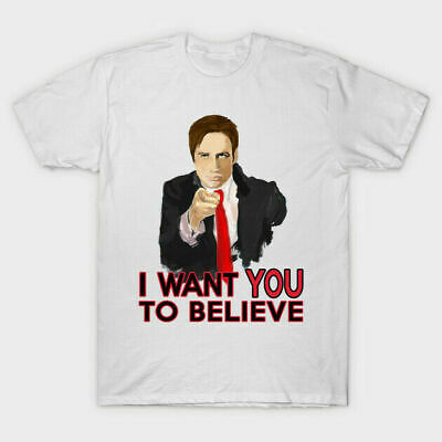 X-FILES FOX MULDER Dana Scully Believe Truth Out There Aliens Mens T