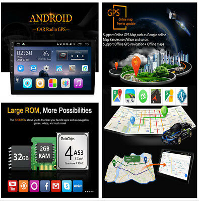 10'' Capacitive Touch Quad-Core 2+32G Car GPS DVD DVR Player 4G LTE Mirror Link