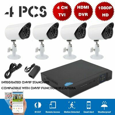 CAMVIEW WIRELESS SECURITY Camera System 4pcs 1080P(2 0MP