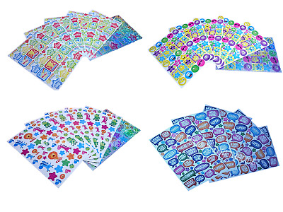 300 x Reward Stickers 6 Sheet Well Done Merit Praise School Teacher Children