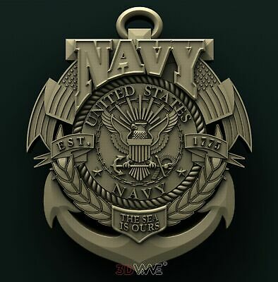3d STL Model Relief for CNC Router _ Navy _0215