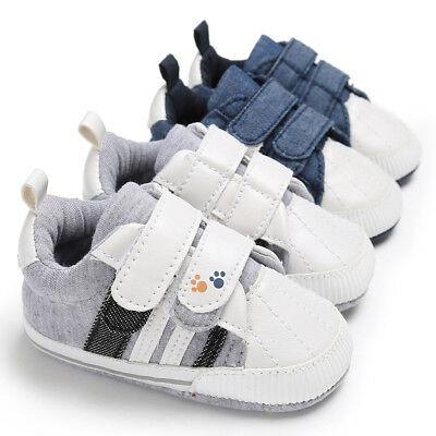 Newborn Toddler Unisex Boys Girls Cotton Sneakers Baby Sports Casual Crib Shoes