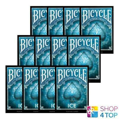 12 Bicycle Ice Playing Cards Decks Made In Usa Original Poker Blue Glacial New