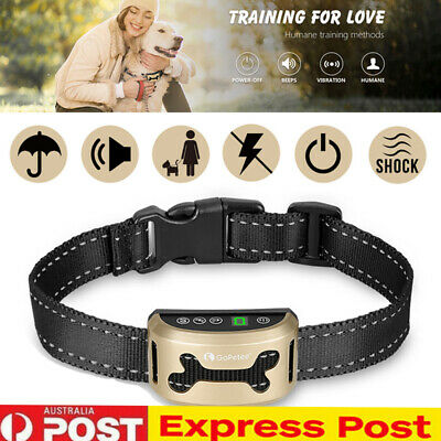 Auto Anti Bark Rechargeable Vibration Collar Stop Barking Dog Pet Trainer Tool