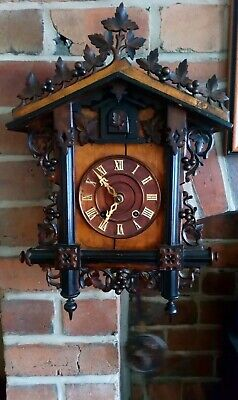 Antique 19th century wind up 8 day Cuckoo Clock - Working. See YouTube video