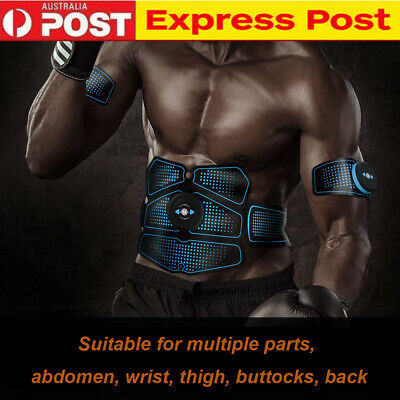 Electric Muscle EMS Machine Wireless Toning Belt 6 Six Pack Abs Fat Burner AU