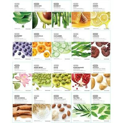 UK STOCK Korean ​The Face Shop Real Nature Face Mask Sheet 1|5|10|20|40 sheets