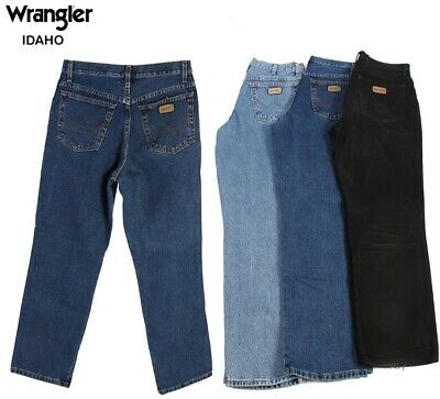 Vintage Wrangler Idaho Mens Regular Fit Straight Jeans 26W to 44W