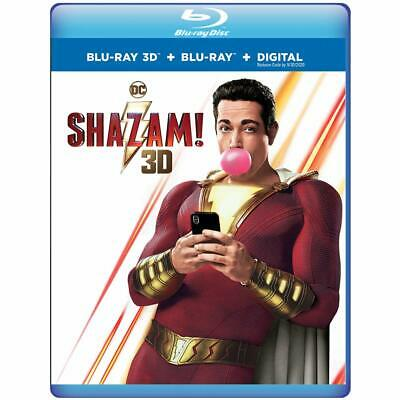 Shazam! (Blu-ray 3D + Blu-ray + Digital) 2-Disc Special Edition, Brand New