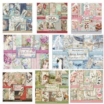 Stamperia 12 x 12 Double Sided Paper Pads - 30 + Designs To Choose - Free UK P&P