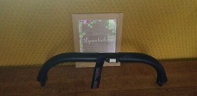 Bugaboo DONKEY faux leather handle bar COVERS ONLY, NEW CURVED SHAPE Black