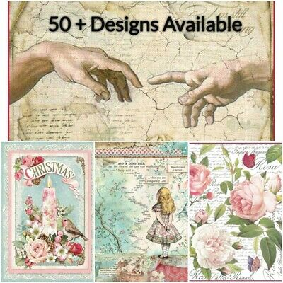 Stamperia Rice Paper x1 A4 Decoupage Sheet - 70+ Designs - Free UK P&P