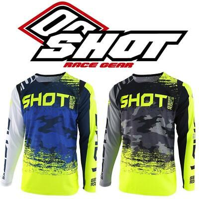 Shot Contact Counter Adults Off Road Motocross Jersey MX Enduro Top Dirt Bike