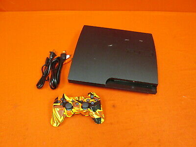 Sony PlayStation 3 Slim 320 GB Charcoal Black Console With Controller 3524