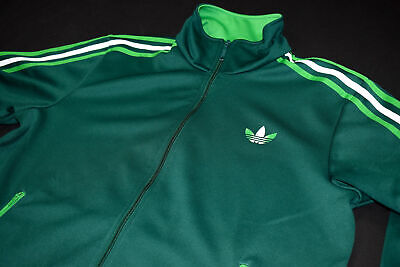 ADIDAS ORIGINALS TRAININGS Jacke Sport Jacket Track Top Retro Grün Firebird Gr L