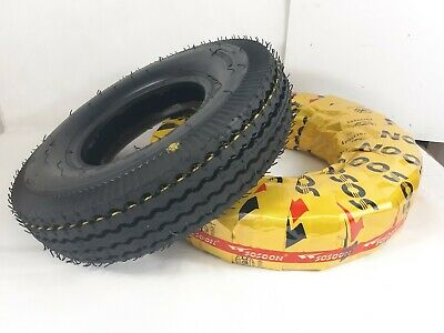 Pair of Sosoon (8Ply) Trailer Tyre 4.00-8 400-8 400x8 Tube Tyre -High Speed