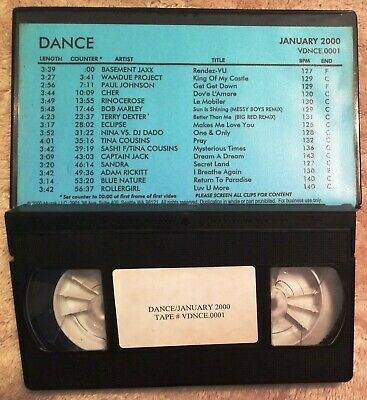 MUZAK CLUB VISION Apr 2000 Vhs Promo Music Videos/Whitney