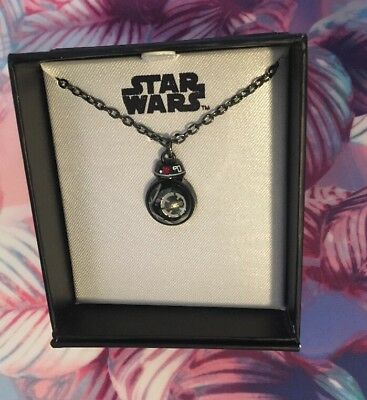 BB8 Women's  Pendant Necklace - BB 9E The Last Jedi Bad Droid Star Wars Boxlunch
