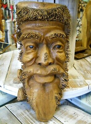 Carved Wooden Bamboo Root Old Man Face Mask NEW STYLE 50 cm Indoor / Outdoor